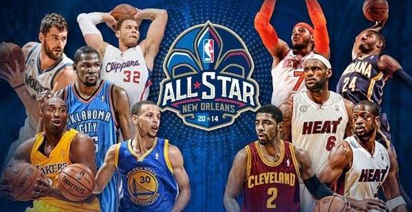 2014年NBA全明星赛首发阵容 詹姆斯获票王图片